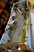 O Gauge. An impressive and highly detailed model railway layout  of 'Ditchling Green Station' on the