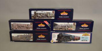 OO Gauge. 5 boxed Bachmann Steam Locomotives including 31-251 4-6-0 Rebuilt Jubilee Class 45736