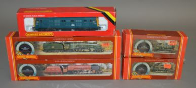 OO Gauge. 5 boxed Hornby Locomotives including R.300 GWR Class 57XX, R.302 BR Class 3F Jinty, R.