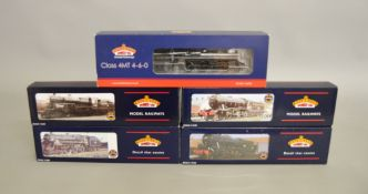 OO Gauge. 5 boxed Bachmann Steam Locomotives including 32-252A WD Austerity 90201, 32-501 Standard