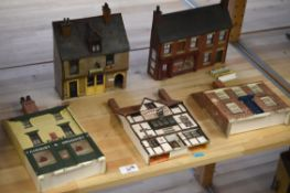OO Gauge. 24 Trackside Buildings, mostly shops and houses, including Public Houses, Newsagent,