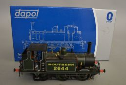 O Gauge. A boxed Dapol 7S-010-003D 0-6-0 Terrier A1X Locomotive '2644' in Southern lined green