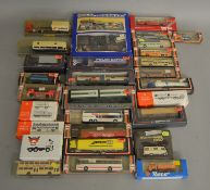 29 boxed 1:87/HO scale Plastic Vehicle models and sets by Herpa, Wiking etc, including a Pola #140