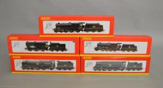 OO Gauge. 5 boxed Hornby Locomotives including R2282 BR 4-6-2,'Weymouth', R2310 BR 4-6-2 'Elders