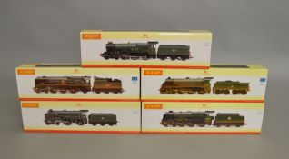 OO Gauge. 5 boxed Hornby DCC Ready Locomotives including R2629  BR 4-6-0 Royal Scot Class 7P 46140