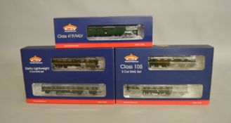 OO Gauge. 2 boxed Bachmann two car DMU sets, 32-515 Derby Lightweight BR green and 31-326 Class