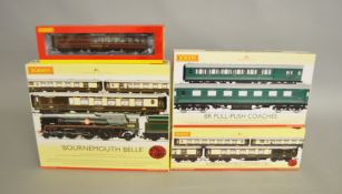 OO Gauge. A boxed Hornby R2300 Bournemouth Belle Set containing 4-6-2 Loco and three Coaches