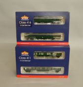 OO Gauge. 2 boxed Bachmann Late SR Multiple Units, 31-425 4CEP EMU 7015 together with 31-376 2EPB