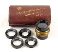 A Rare Busch Vademecum Aplanatsatz Model E Lens Set. Comprising lens with set of six supplementary
