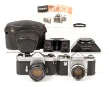 Pentax Spotmatic Stereo Outfit. Comprising Pentax Spotmatic SP with Super Takumar 50mm f1.4 #