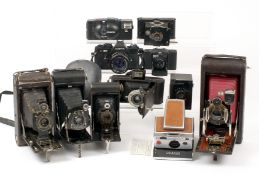 No 3a Folding Pocket Kodak (Model B-4) & Other Cameras. Including Polaroid SX-70 (working, but not