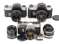 A Collection of Canon Canonflex Cameras & Lenses. Comprising Canonflex RM with Super Canomatic