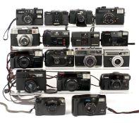 Box of Approx 17 35mm Compact Cameras. To include Lomo LC-A, Minolta Hi-Matic GF, Minox 35, Konica