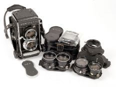 Mamiya C330 Professional TLR Outfit. Comprising camera body and 80mm f2.8 lens (shutter sticking