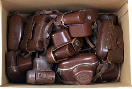 Box of Thirteen Corfield Periflex Ever Ready Cases. Various models. (condition 5&6)