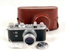 Rare Reid I Military Camera & Case. Reid I body #P3437 with contract number '0553/8886' and the