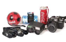 Tasco & ITT Type 110 Binocular Cameras & Others. Including Pepsi and Coke 110 cameras.