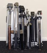 Modern & Vintage Tripod Collection. Comprising thirteen various sizes and styles of tripods,