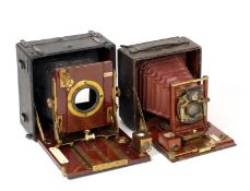 Rochester Optical Co. Pony Premo No.6 with Maroon Bellows. (condition 6F) and a 1/4 plate