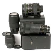 Uncommon Nikon Fit Soligor 500-800mm ZOOM Mirror Lens. f8-12 (T-mount). Also a Tamron SP 23A 60-