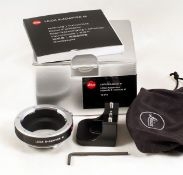 Leica R-Adapter M (Leitz code 14642). Allows use of Leica R series lenses on Leica M cameras. With