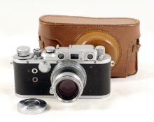 Reid IIIa Rangefinder Camera #P1818. (2nd blind sticks, hence condition 5H). With uncommon (