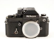 Black Nikon F2A Photomic Camera Body. #7571530. Meter working, slight wear/brassing to corners and