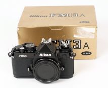 Black Nikon FM3a Body #286248. (Slight wear to rear of base, otherwise condition 5F) in makers box.