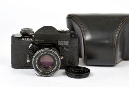Black Alpa Reflex 6c Body with Kern Macro Switar 50mm f1.8 AR. #47511/1020674 with working meter. (