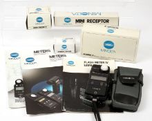 Minolta Flash Meter IV & Accessories. To include meter (tested OK, condition 4/5E) with case, 5