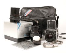 3-Lens Hasselblad 503CX Medium Format Outfit. Comprising 503CX body #11ES13836 in makers box, with