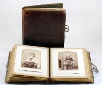 An Attractive Victorian Margueite Photograph Album, Plus One Other. Margueite 'Designs of Field
