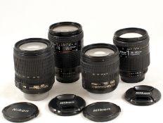 Good Group of Four Nikkor AF Lenses.