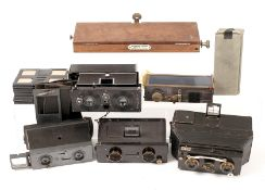 Uncommon French Jarret & Three Other Stereo Cameras. Comprising Jarret stereo; ICA Polyscop with