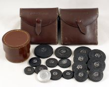 Taylor, Taylor Hobson Cases & Lens Caps. To include 2 triangular and a round Taylor Hobson case