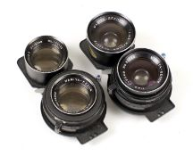 Two Mamiya Sekor 'Blue Spot' Lenses for C Series TLRs. Comprising 55mm f4.5 #93278 and a 105mm f4.