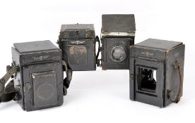 Four Thornton Pickard Reflex Cameras for Spares or Repair. Uncommon TP Ruby Horizontal with