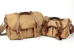 Two Billingham Camera Bags, with Dividers. One medium (condition 6) and one large (condition 4/5).