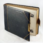 LARGE CDV Size Photograph Album, Images Mostly Later. 56 pages approx 16x12 inches with space for