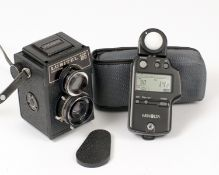 Minolta Autometer IV Flash & Ambient Exposure Meter. (condition 5E) with case. Also a Lubitel 166