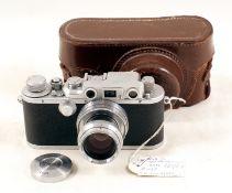 RARE Reid III Type I Rangefinder Camera. A rare, early Reid III version, #P1135, made before flash