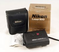 Nikon Laser 800 8x28 Digital Rangefinder. Rubberised covering slightly warn. (condition 6E). With
