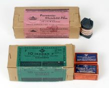 Two Trade Packs of Ten 1940s 35mm Films. Comprising of 10 Agfa Isopan-F 35mm films, B&W 17 DIN 36