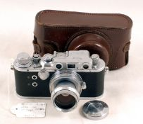 Reid IIIa Camera with Taylor Hobson 2 inch f2 Lens & Case. Body #P1944 (tiniest hint of a ding to