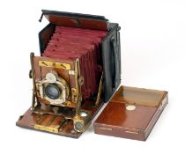 Sanderson Junior Hand & Stand Plate Camera #6172. With Daylight Film Holder. (locking catch to front