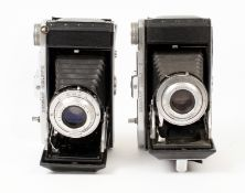 Pair of Kershaw Curlew II Roll Film Cameras. Each with Critak 105 f4.5 lens. One neatly engraved '