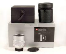 Sliver Leica Noctilux-M 0.95 50mm ASPH Lens, (Leitz code 11667). #4311115. (condition 2/3E) With