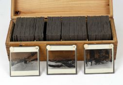 Box of Over 80 Magic Lantern Slides, Swiss & Mountain Scenes. A very well photographed set with lots