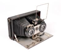 Butchers No2 'The Cameo' Stereo Plate Camera. (condition 4/5F) fitted with Beck Symmetrical