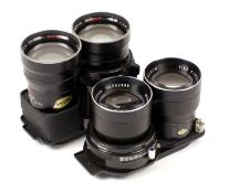 Two Mamiya Sekor Telephoto Lenses for C Series TLRs. Comprising 135mm f4.5 'Blue Spot' and a 180mm